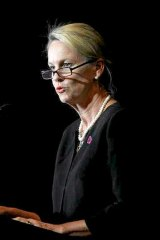 Beleaguered assistant health minister Fiona Nash at  National launch of DonateLife Week 2014 at the State Library of NSW, Sydney.