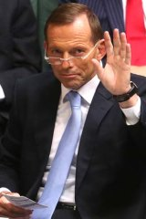 New focus: Tony Abbott is changing tack.