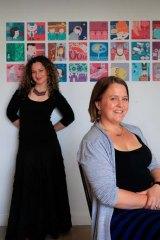 Raising awareness about stillborn births … Tonia Composto, left, and Sally Heppleston.