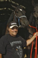 Terry Thompson with some of his horses.