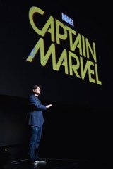 Marvel Studios president Kevin Feige unveils plans for <i>Captain Marvel</i>.