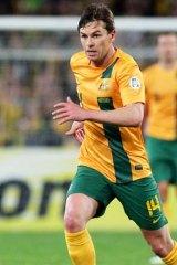 Brett Holman in action during the Australian Socceroos v Iraq at Olympic Stadium in Sydney.