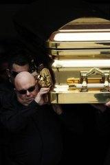 Carl Williams' funeral in 2010.