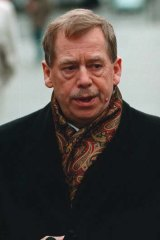 ''Great hero'' … Vaclav Havel in Prague in October.
