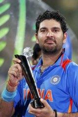 Man of the tournament . . . Yuvraj Singh of India.