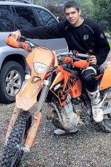 Scott Harris, the trailbike rider.