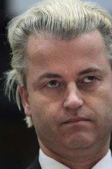 Dutch anti-immigration politician Geert Wilders.