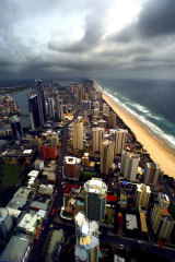 A storm is brewing ... The value of exclusive waterfront properties on the Gold Coast has tumbled 30 per cent.