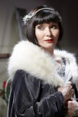 Essie Davis as Phryne Fisher in <i>Miss Fisher's Murder Mysteries</i>.