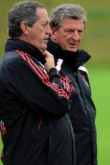 Played role in resurgence: Peter Brukner with Roy Hodgson.