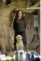 Mosaic artist Helen Bodycomb in her studio at the arts hub complex in Castlemaine.