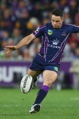 On target: Cooper Cronk's field goal won the game and helped him claim the Dally M award.