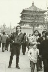 Reporter Peter Ellingsen in China in 1989.