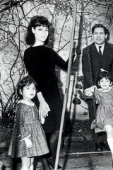 """""""I don't believe in looking back"""" … Nigella, on the swing, with her father Nigel Lawson, mother Vanessa and sister Thomasina in 1965."""