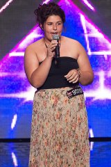 Shiane Hawke, 14, shocked the judges with her rendition of Duffy's <i>Mercy</i>.