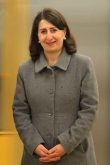 Standing firm: Gladys Berejiklian hopes single-deck trains will carry 1300 people.