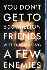 Facebook's big movie role: the poster for the film by Columbia Pictures.