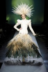 A model wears a creation from Jean Paul Gaultier's spring/summer 2010 collection.