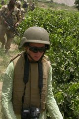 Amanda Lindhout at Forward Operating Base MaSum Ghar in Afghanistan in 2007, before her abduction.