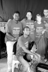 The student band in the Solomon Islands.