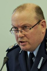 Victoria Police Deputy Commissioner Graham Ashton speaking at the inquiry.