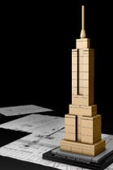 Tall order ... the Empire State Building model from the Lego Architecture consumer range.