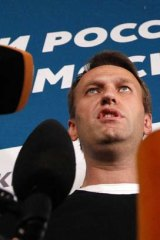 Targeted: Blogger and anti-corruption activist Alexei Navalny ended up in jail.