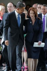 Barrack Obama and Julia Gillard.