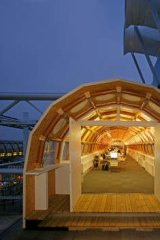 Shigeru Ban's paper studio in Paris.