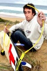 Close call ... Warrnambool surfer Aaron Seare.