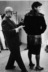 Costume designer Orry-Kelly with Tony Curtis on <i>Some Like It Hot</i>.