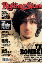 Dzhokhar Tsarnaev, the accused Boston Marathon bomber, on the cover of Rolling Stone.