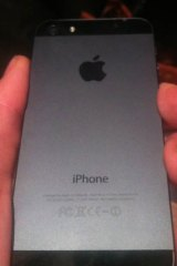 The back of the new iPhone 5.