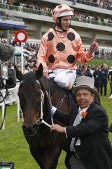 Big winner: Luke Nolen on Black Caviar after winning the Diamond Jubilee Stakes at Royal Ascot.