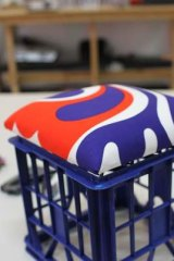 Tthe prototype milk crate cushion.
