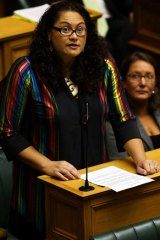Trailblazer:  Labour MP Louisa Wall, who sponsored the bill, speaks during the third reading and vote.