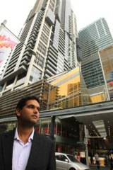 ''I have been treated with suspicion - there is no transparency'' … Daniel Comarmond outside the World Square tower.