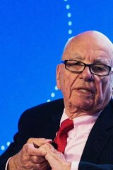 All powerful: Davies blames Rupert Murdoch for the scandal and much more.