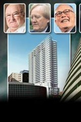 Who's who in the Tower of Power: (from left) trucking magnate Lindsay Fox, businessman Ron Walker, former Crown Casino owner Lloyd Williams and coal giant Sir Roderick Carnegie.
