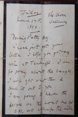 Letter from Lord Alfred Douglas to Maurice Schwabe dated 5 March 1892.