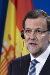 Spanish Prime Minister Mariano Rajoy at a news conference in Berlin this month.