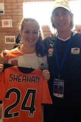 Hayley Sheahan with Brisbane Roar assistant coach Melissa Andreatta.