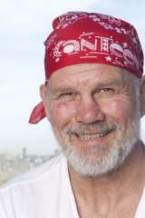 On the attack: Peter FitzSimons.
