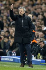 The Special One: Jose Mourinho gestures from the sideline.