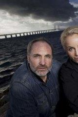 Kim Bodnia and Sofia Helin in <i>The Bridge</i>