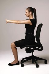 Some 'deskercise' can release tension and unblock energy.