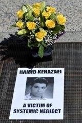 A memorial for Hamid Kehazaei.