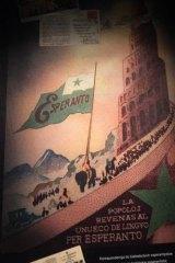 A poster promoting Esperanto at the Ludwik Zamenhof Centre in Bialystok.