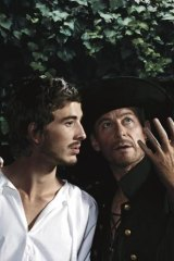 Romantic: Richard Roxburgh, right, as the irrepressible Cyrano de Bergerac.