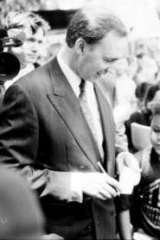 Australian Prime Minister, Paul Keating after delivering an emotional speech in Redfern, Sydney, to mark the International Year of the World's Indigenous People in 1992.